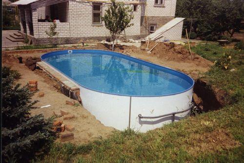 Как самому сделать бассейн на даче своими руками видео в домашних условиях79