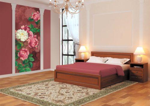 как комбинировать обои в спальне дизайн фото интерьер спальни с